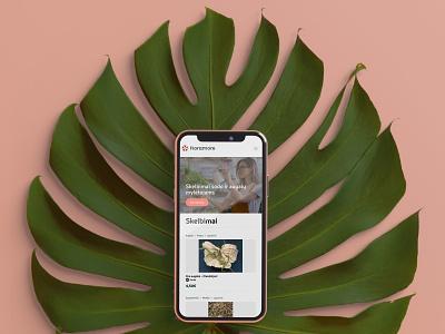 """Floramore"" mobile portalo dizainas floramore ui branding web uiux cechas design levinskas alius"