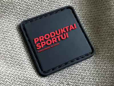 """Produktai sportui"" logotipas sport branding design levinskas alius"