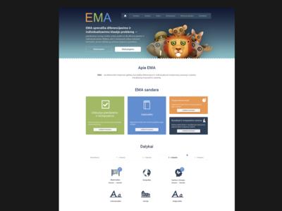 EMA web page progress...