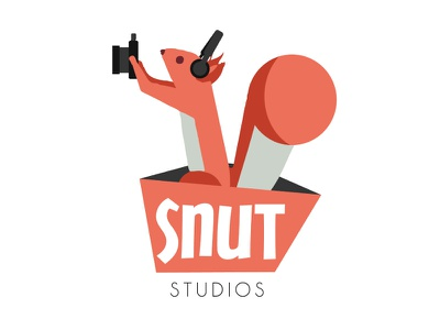 Logo Snut Studio video & son studio squirrel video photo ecureuil animal logo