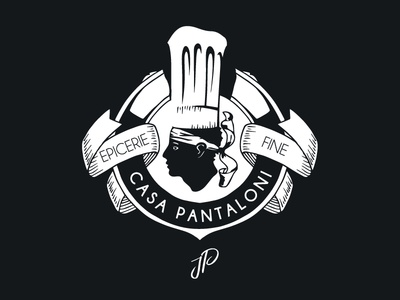 Logo Casa Pantaloni Studio Thil badge charcuterie cuisine corse epicerie restaurant logo