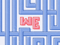 We Collaborate Halftone Pattern