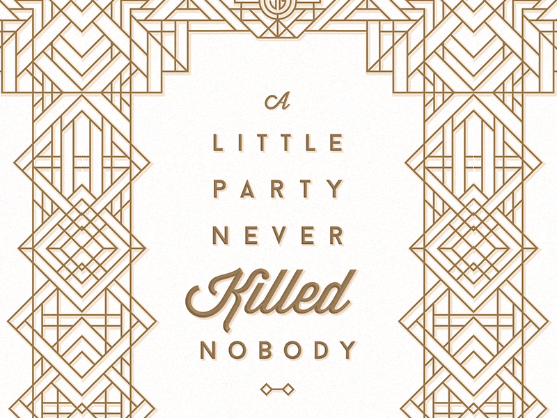 Great Gatsby Poster Refresh by Carly Nixon | Dribbble ...