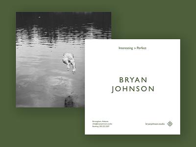 Bryan Johnson Print Promo design art direction photography promo print graphic design