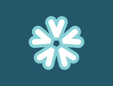 Wild Blue Phlox thick lines logos flower logo nature wild blue flower graphic design logo design icon