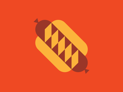 Classic Brat hotdogs foodie food illustration food and drink logo design logo graphic design simple shapes simple illustration shapes icon vector illustration design food