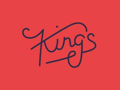 King's typography logo graphic design logotype handlettering