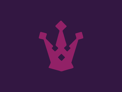 Crown Icon iconography graphic design design personal packaging royal purple mark branding logo icon crown