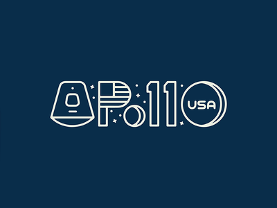 Apollo 11 logo design thick lines stars graphic design space moon apollo apollo 11 symbol logotype logo icon
