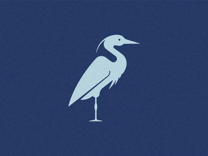 Blue Heron design bird heron icon graphic design illistration