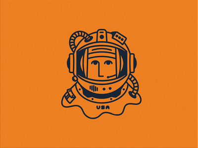 Space Dude icon outer space illustration astronaut space spaceman