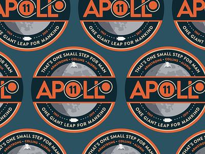 Apollo 11 - 50th Anniversary Stickers app moon designs graphic design orange sketchbook vector typography stickermule sticker logo logotype adobe illustrator design illustration moon landing apollo apollo 11