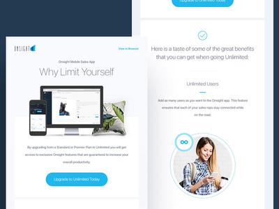 Onsight Mobile Sales App -  Newsletter Design