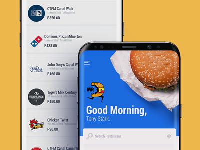 🍔 Mr D Food order online food delivery app adobe xd mobile app concept ux ui