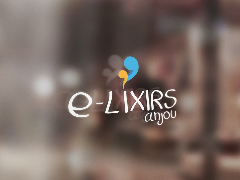 E-Lixirs Anjou shop ecig visual  identity logo