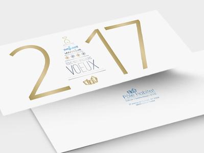 Pôle Habitat - Carte de voeux 2017 gold new year eve 2017 greetingcard