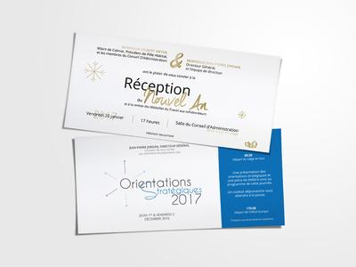 Pôle Habitat - Invitations event design card invitation card invitation