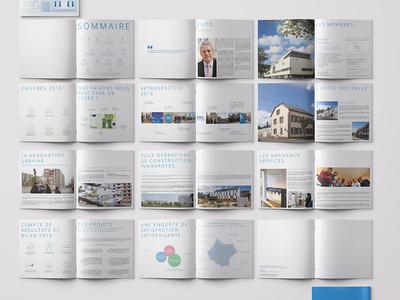 Pôle Habitat - Rapport d'activité edition design brochure brochure design square booklet book report activity report