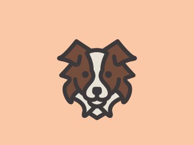 Aussie Mark australian shepherd graphic design vector illustration dog