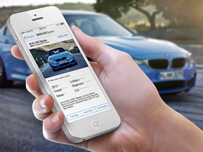 AutoTrader Concept autotrader ios7 apple iphone
