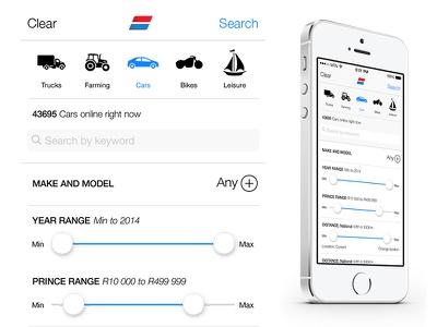 AutoTrader Concept iphone apple ios7 autotrader
