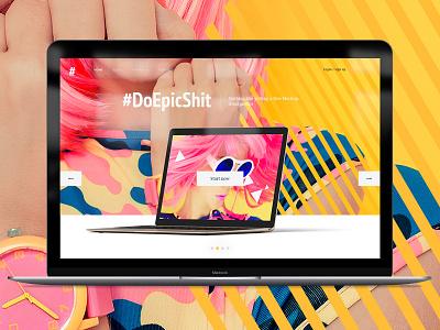 #DoEpicShit Free UI Kit psd download ui gui free layers freebie template