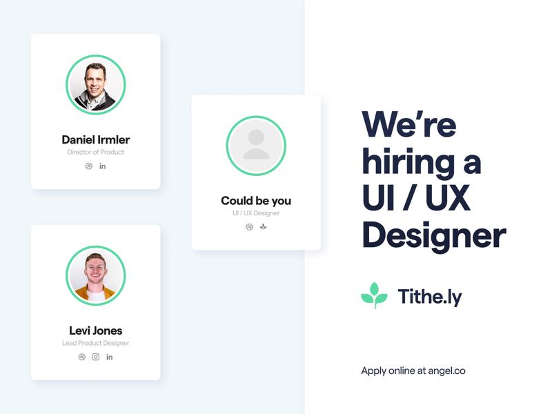 Looking for a UI / UX Designer uxdesign ui designer product design saas app tech church technology hiring hire design uiux designer ui ux design ui  ux uiuxdesigner uiux design uiuxdesign ui design uidesign ui ux uiux