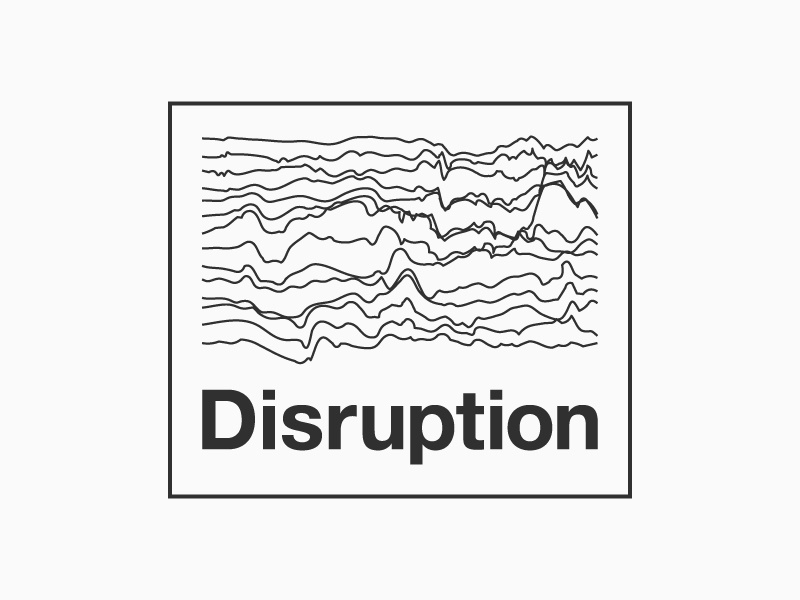 Disruption Design mountain margin minimal minimalistic quake rugged bold type thin lines simple helvetica mark disruption