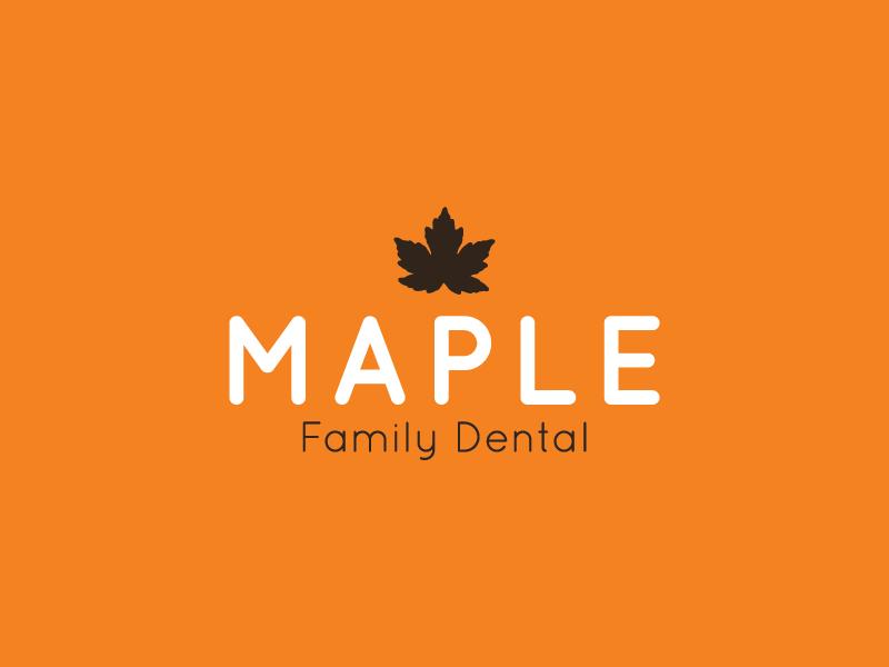 Maple Family Dental | Logo Prelim #3 branding logo design logo dental