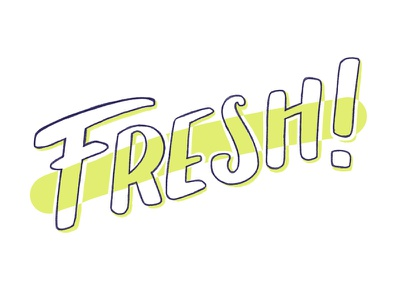 Fresh brush lettering typography hand drawn type hand lettering