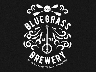 Bluegrass at the Brewery screen printing black and white music fundraiser brewery bluegrass