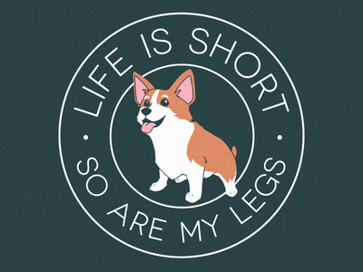 Pet-A-Corgi 2018 screenprinting screen printing badge illustration dog event corgi