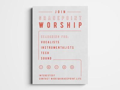 GracePoint Worship typography ministries church marketing church design postcard christian church ministry