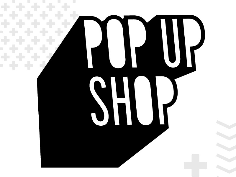 Pop Up Shop Logo logo nonprofit shop makers artists local spokane