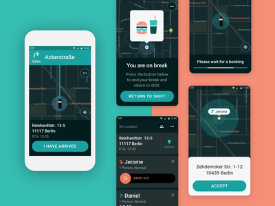 Driver App redesign vector flat driver app app design ux