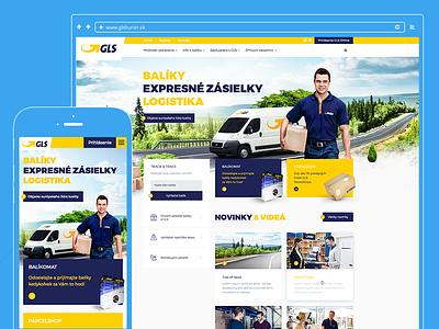 GLS Courier clean design fedex dhl ups gls web michal gregus finest studios balikomat parcel service parcelshop courier