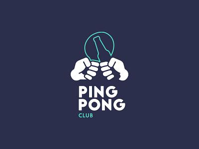 Ping Pong Club Concept concept rejected logo club pingpong illustrator branding logo