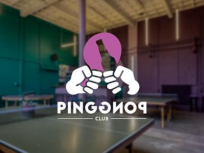 Ping Pong Club logo illustrator ping pong logo design logodesign branding beer cafe bar utrecht pingpongclub pingpong logo
