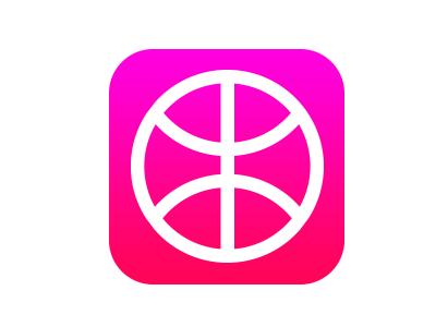 iOS 7 dribbble icon