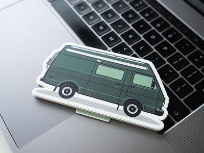 VW LT Stickers illustrations vwlt stickermule vw vw van illustration sticker