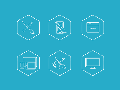 Icon set 'Skill' portfolio icons creative design development branding portfolio