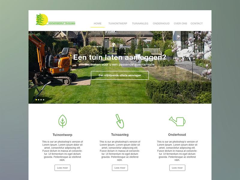 Ton Bouman Hoveniers Website WIP