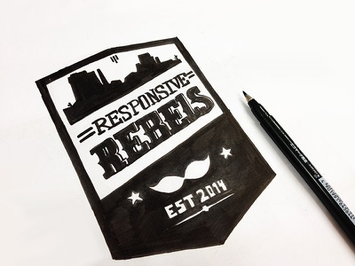 Responsive Rebels logo logo team rebels tribe sketch
