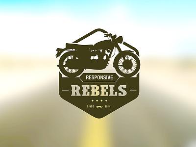 Responsive Rebels logo exploration logo team responsive rebels motor