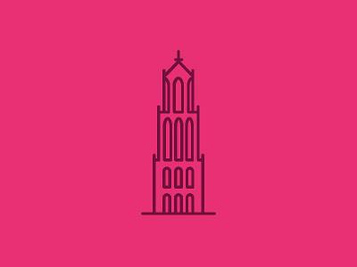 De Dom - Utrecht icon illustation meetingrooms monument dom utrecht