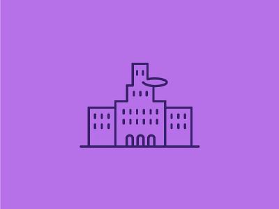 De Inktpot - Utrecht illustration lineart buildings icon monumental inktpot