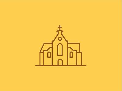 Janskerkhof - Utrecht meetingroom city places buildings monumental church illustration icon