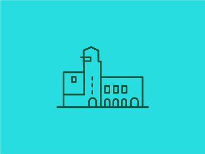 Ledigerf - Utrecht meetingroom city places buildings monumental illustration icon