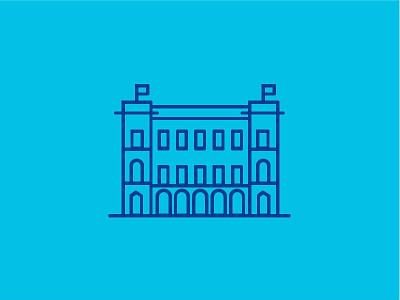 Winkel van Sinkel - Utrecht meetingroom city places buildings monumental illustration icon