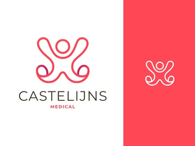 Castelijns Medical - medical inspections for skydiving icon skydiving mark medical branding logo